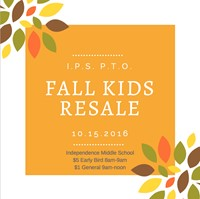 Independence PTO Fall Kids Resale