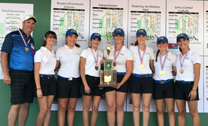 Blue Devils' Golf Team Claims State Title Girls Golf Win State - picture of group