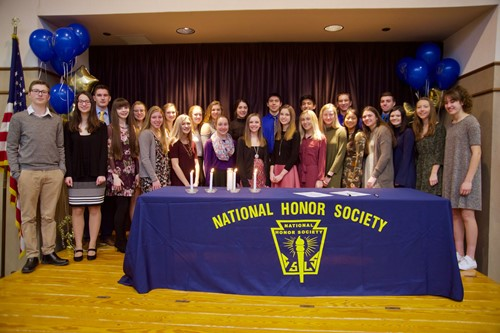 Independence High School Inducts National Honor Society Students IHS National Honor Society 2017-18