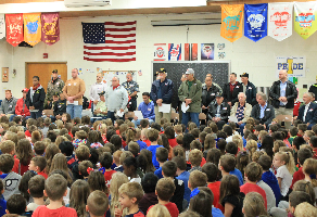 veterans day assembly at primary school