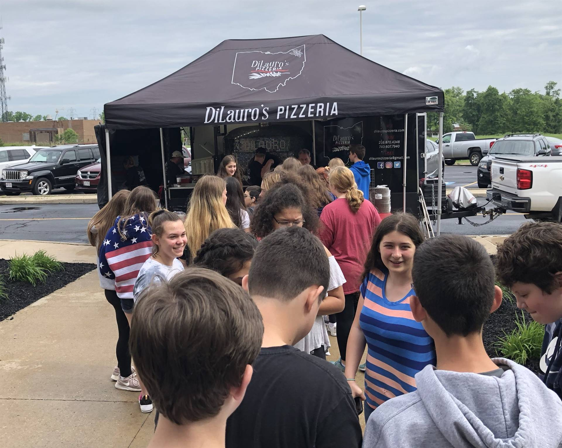 IHS Alum Adam DiLauro (Class of 2005) bringing his wood-fired pizza truck for our Drug Free Clubs of