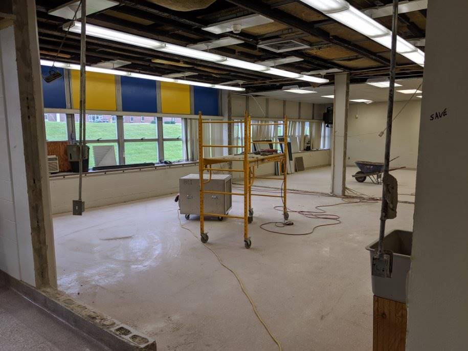 Independence Middle School 7th Grade I-Team Learning Space Progress 7-2-19