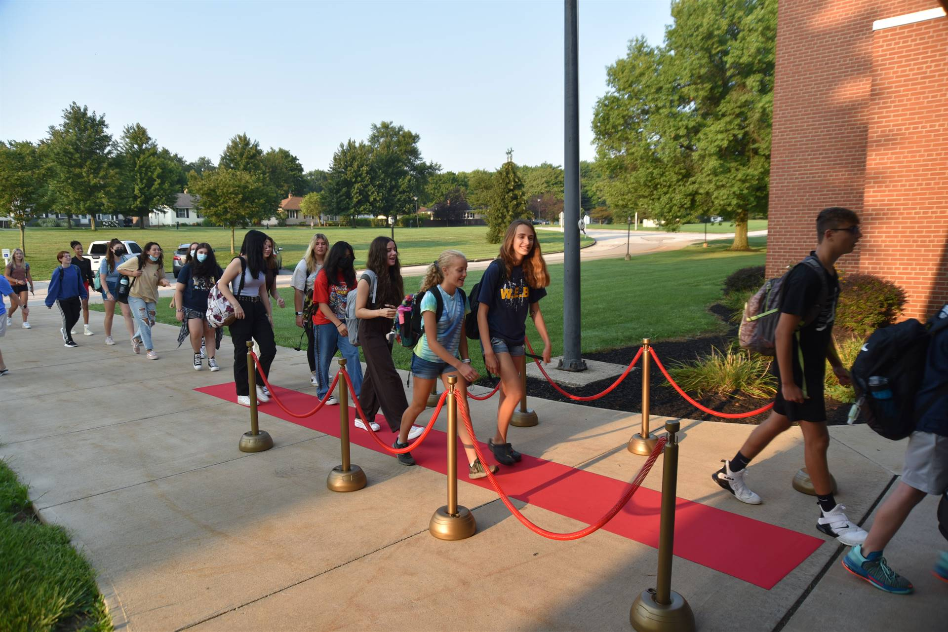 independence middle school red carpet morning